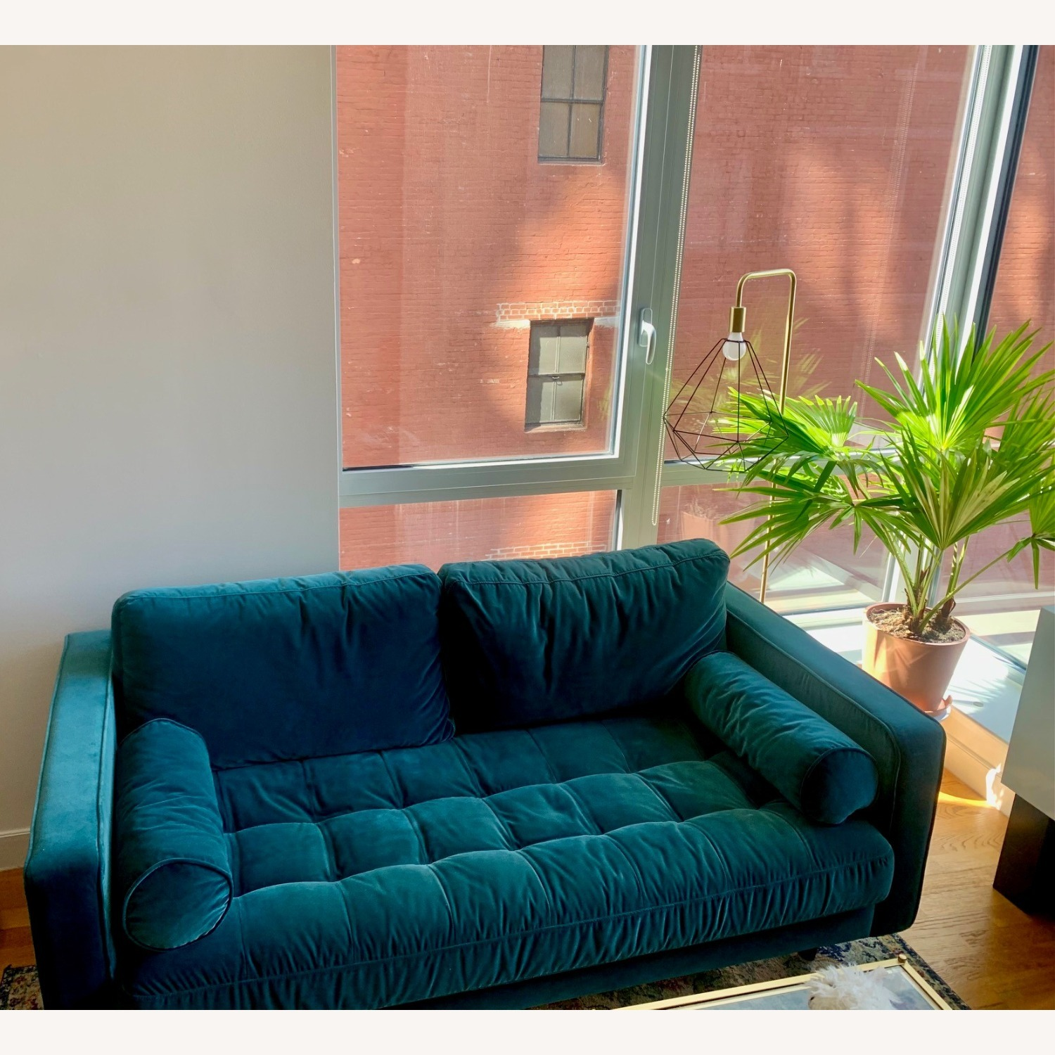 Article Pacific Blue Sven Velvet Two Seater Sofa - image-5