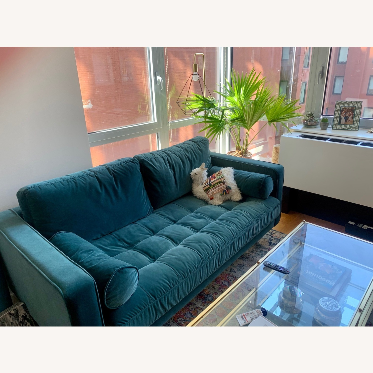 Article Pacific Blue Sven Velvet Two Seater Sofa - image-3