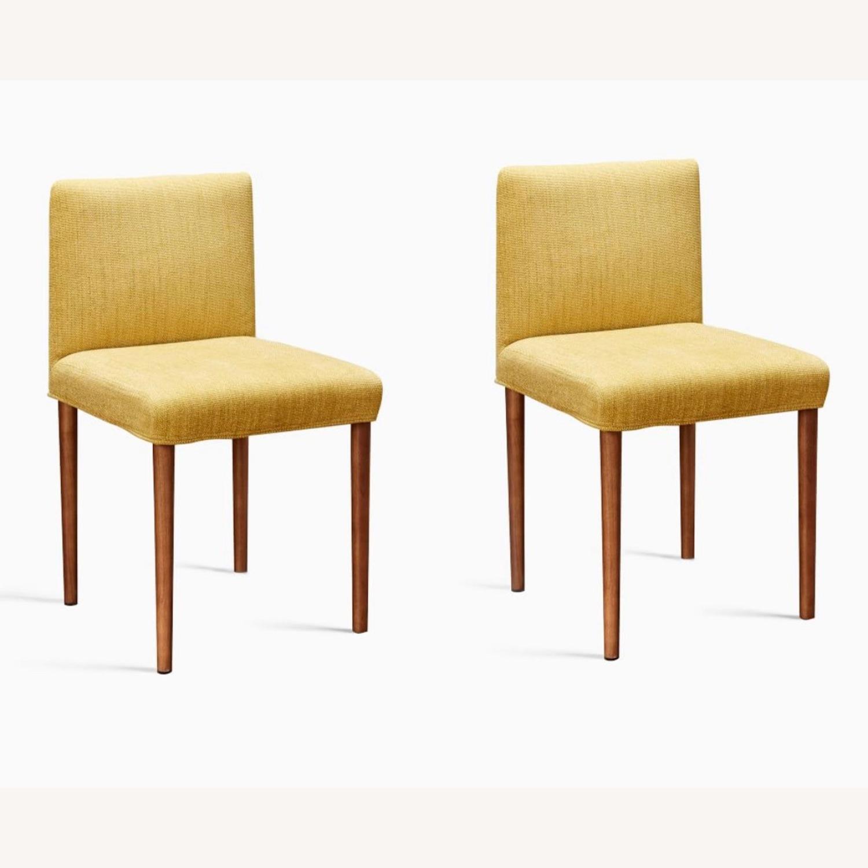 West Elm Ellis Dining Chair S/2 Horseradish - image-3