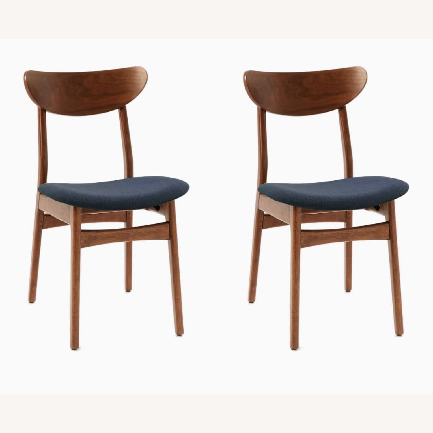 West Elm Classic Cafe Chairs Set of 2 - image-1