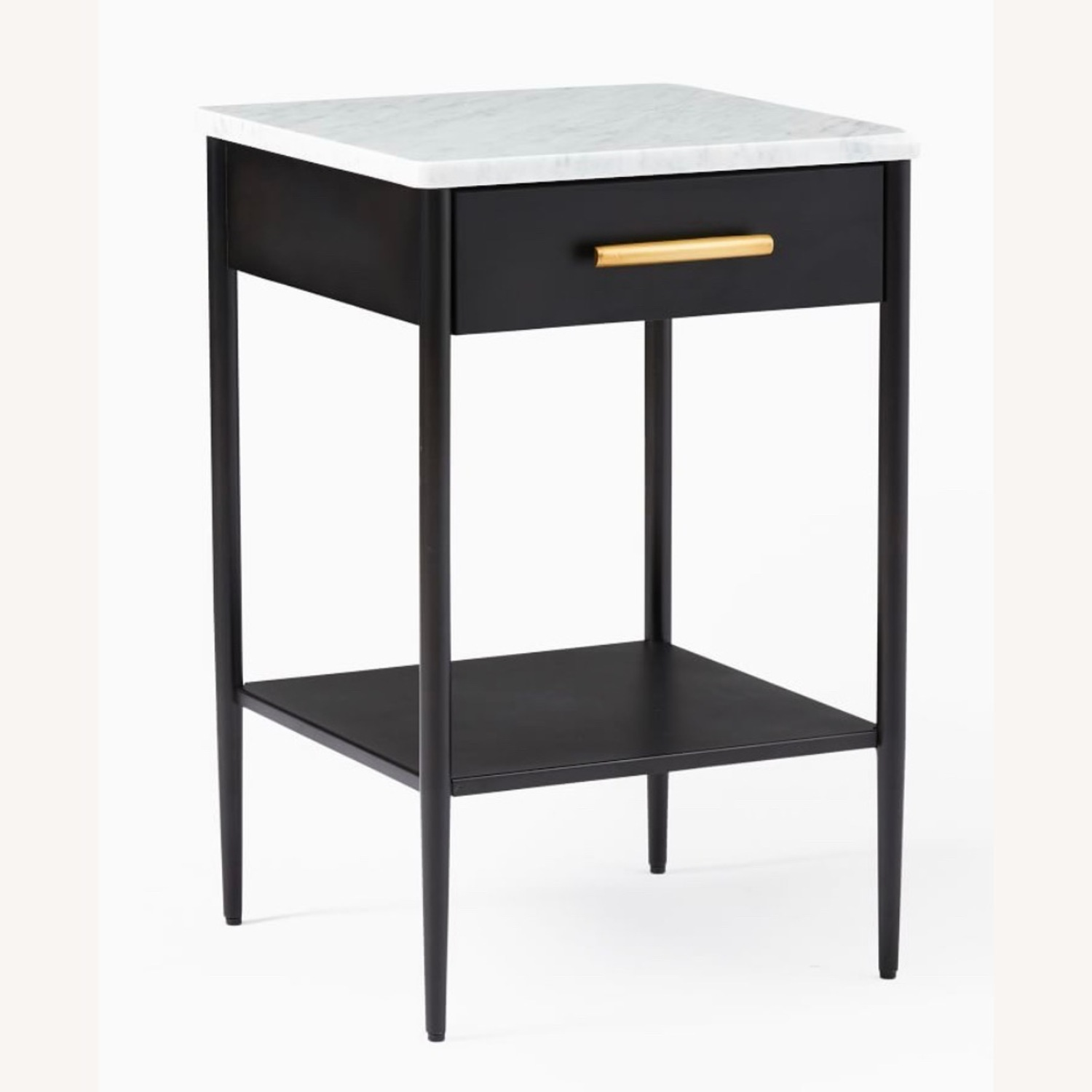 West Elm Metalwork Nightstand Marble Top - image-1