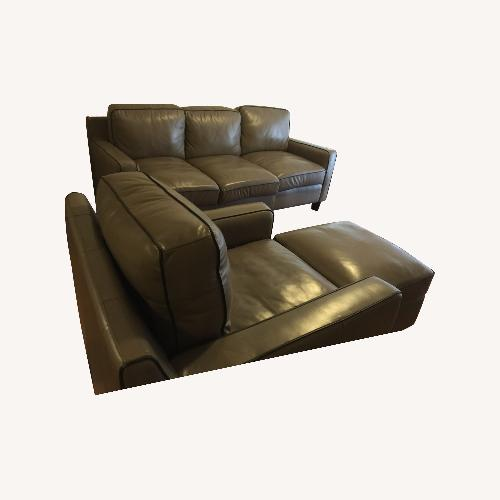 Used Sofa in Leather 3 Pieces Total for sale on AptDeco