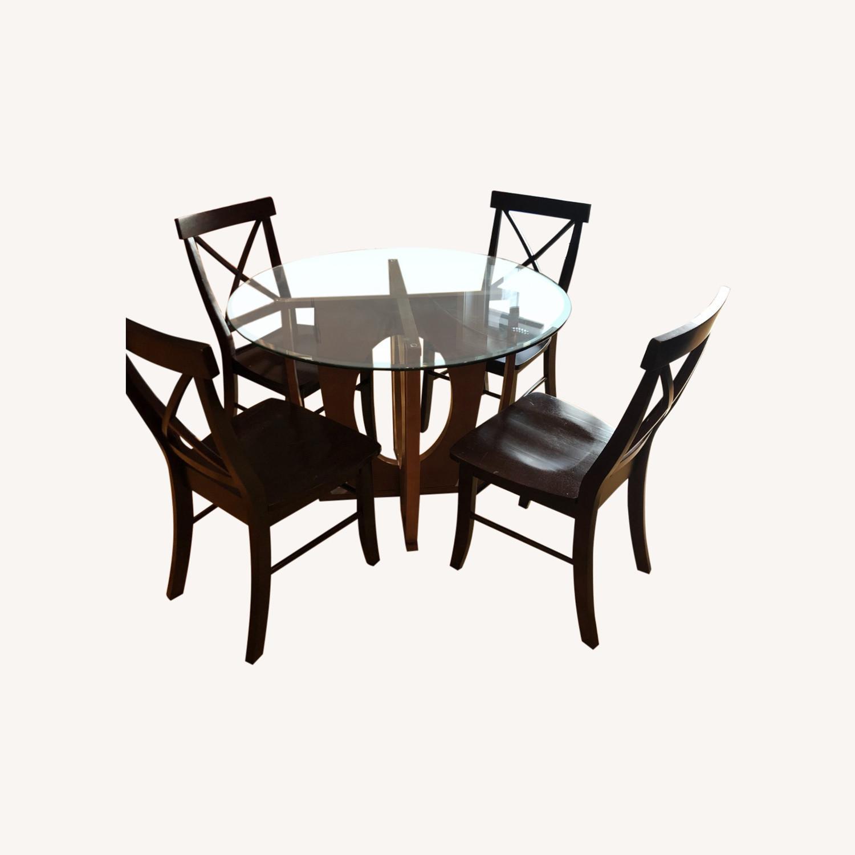 AllModern Glass Dining Table Set - image-0