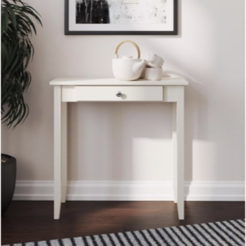 Used Walmart White Vanity/Console Table with Drawer for sale on AptDeco