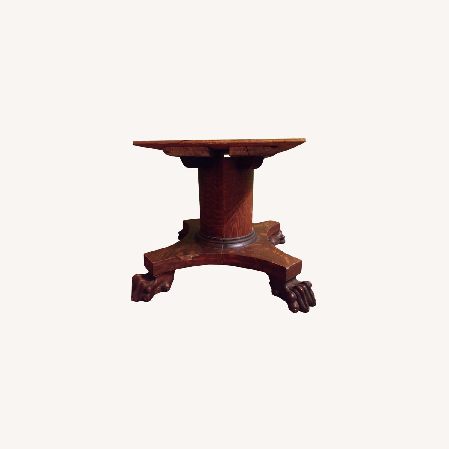 Quarter Sawn Oak Table Base - image-0