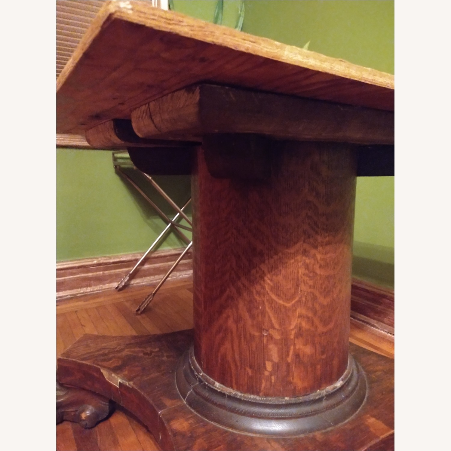 Quarter Sawn Oak Table Base - image-3