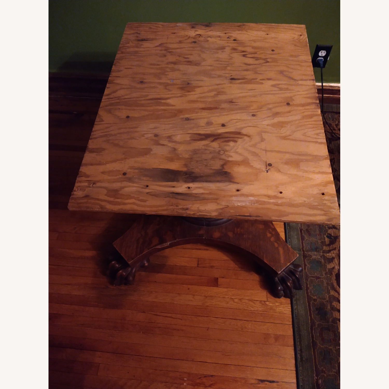 Quarter Sawn Oak Table Base - image-5
