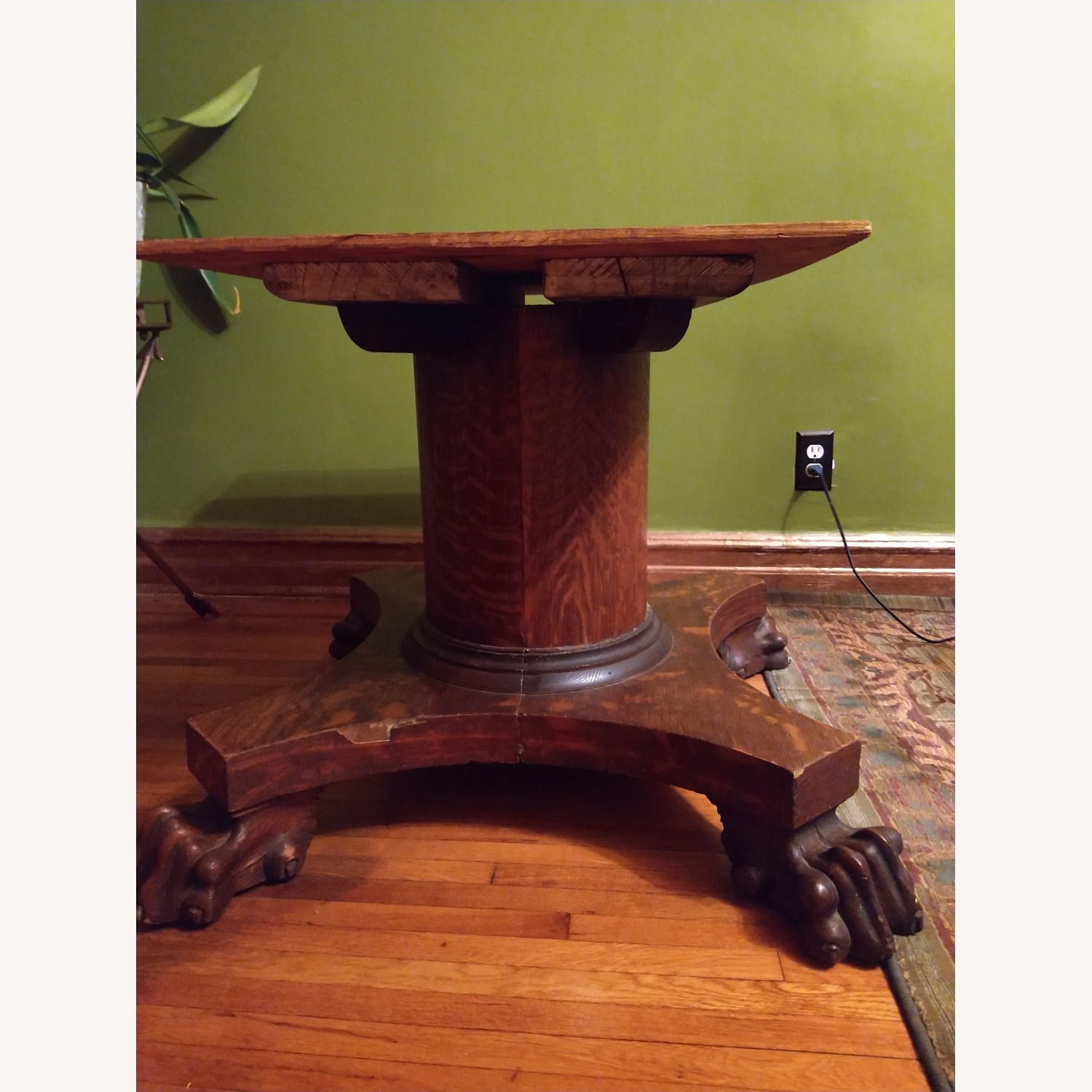 Quarter Sawn Oak Table Base - image-1