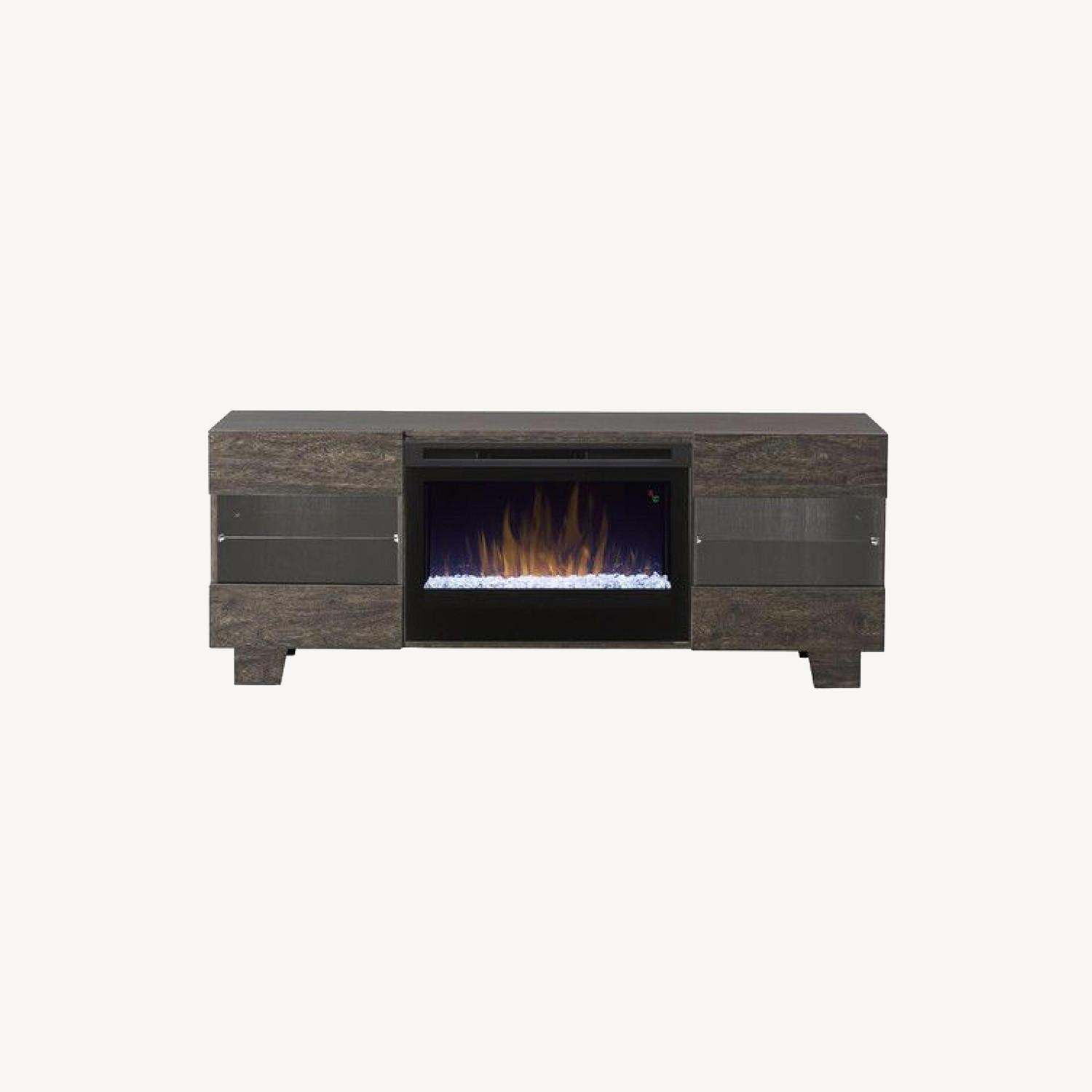Wayfair Max TV Stand with Electric Fireplace by Dimplex - image-0