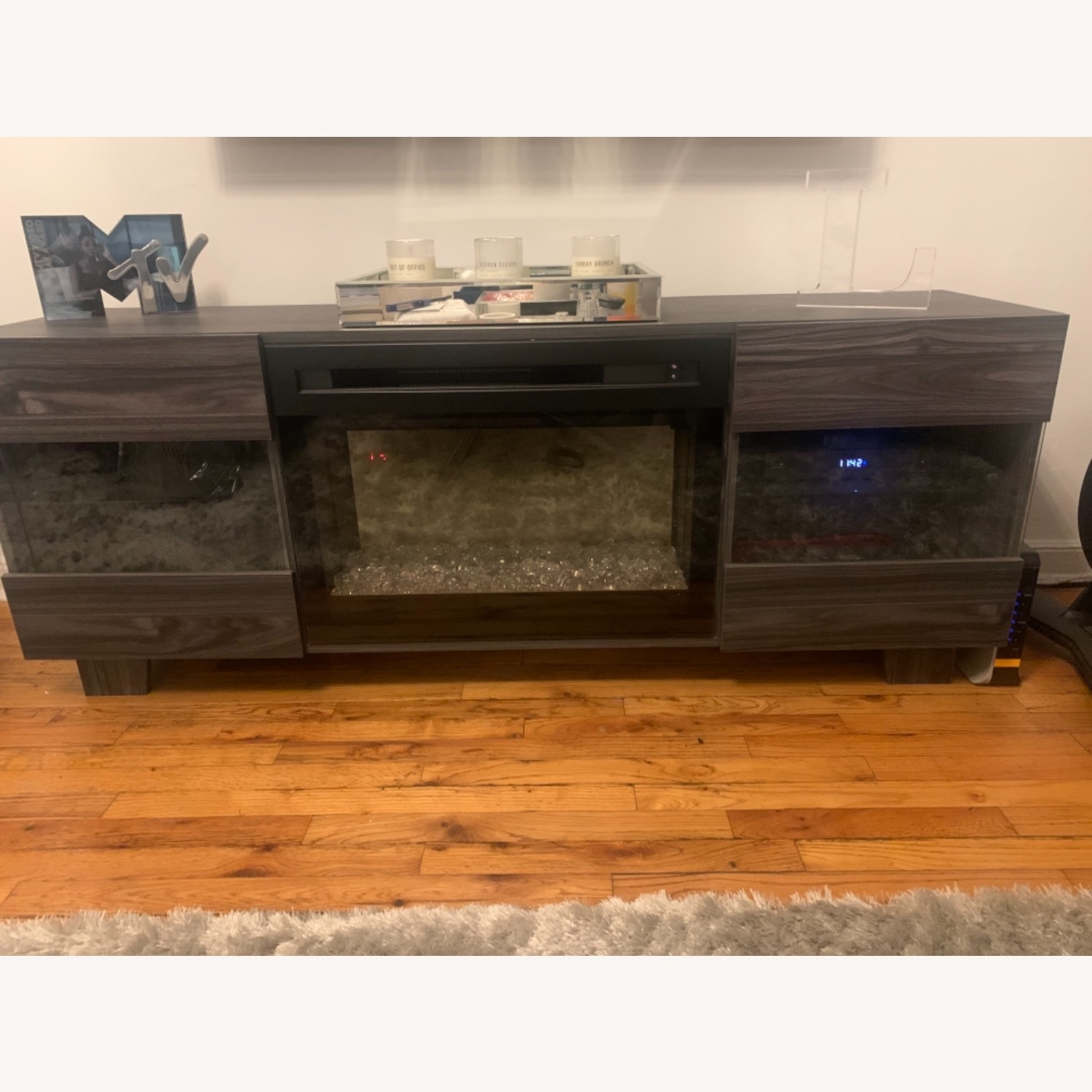 Wayfair Max TV Stand with Electric Fireplace by Dimplex - image-1