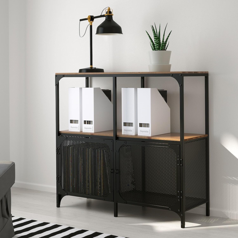 IKEA FJLLBO Shelf Unit Black - image-4