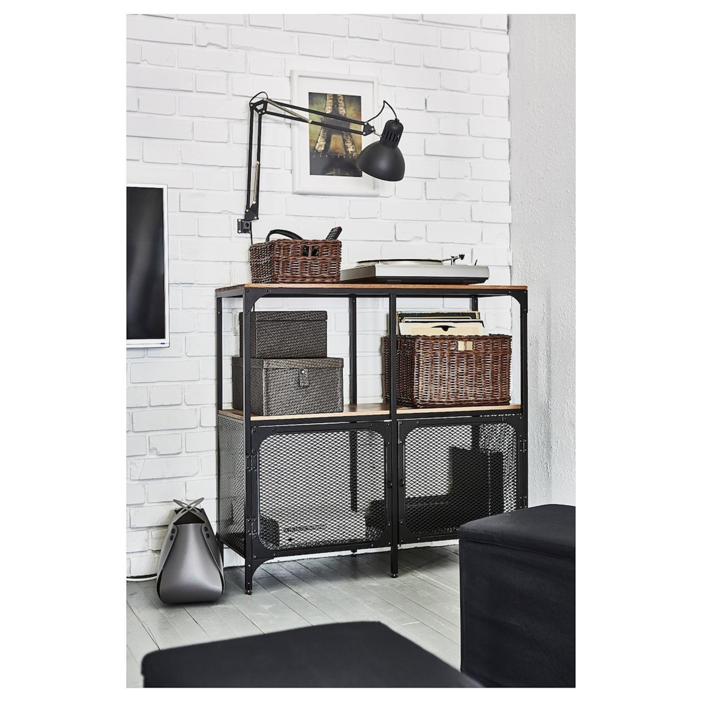IKEA FJLLBO Shelf Unit Black - image-3
