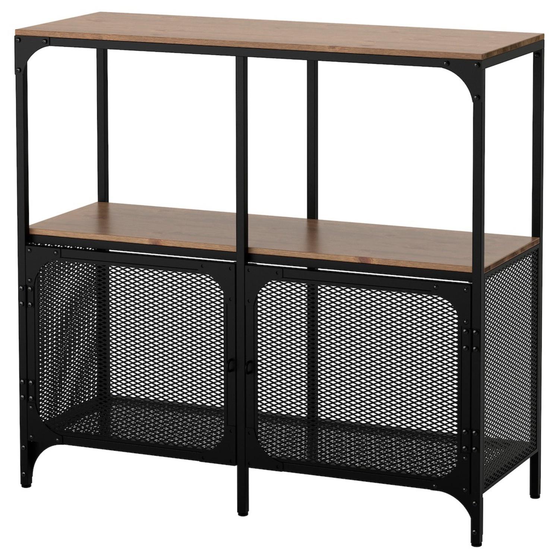 IKEA FJLLBO Shelf Unit Black - image-1