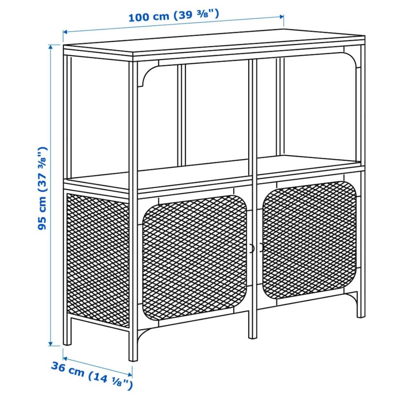 IKEA FJLLBO Shelf Unit Black - image-2
