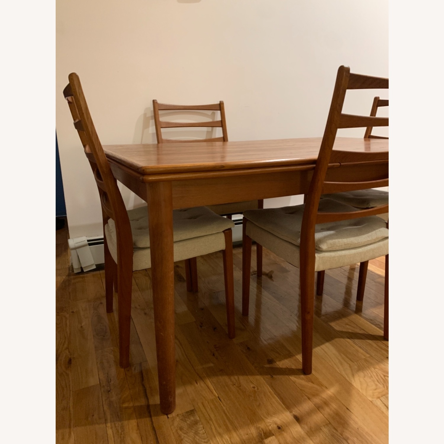 Mid Century Extendable Dining Table w/Four Chairs - image-3