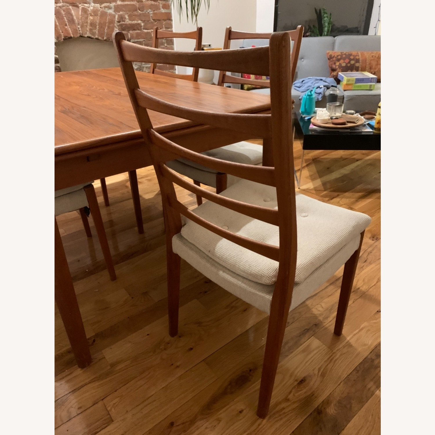 Mid Century Extendable Dining Table w/Four Chairs - image-6