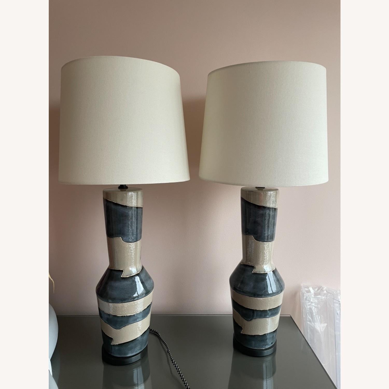 Visual Comfort Designer Ceramic Table Lamps (pair) - image-4