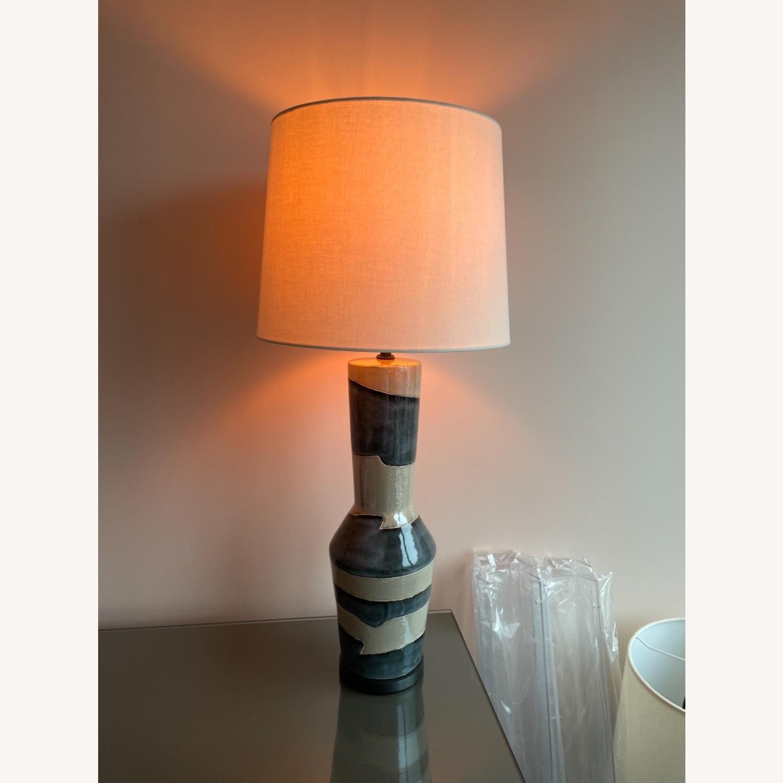 Visual Comfort Designer Ceramic Table Lamps (pair) - image-2