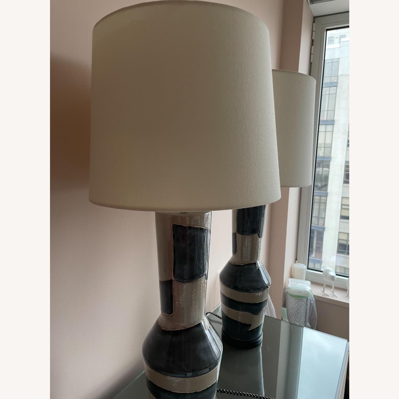 Visual Comfort Designer Ceramic Table Lamps (pair) - image-5
