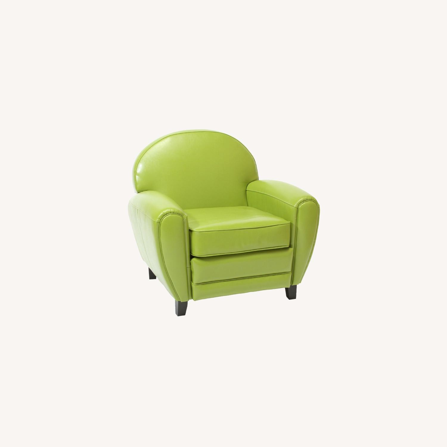 Lime Green Accent Chair - image-0