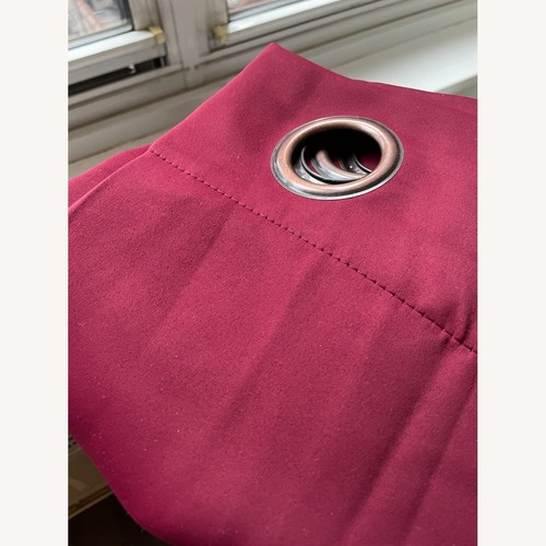 Used Solid Blackout Thermal Grommet Curtain for sale on AptDeco