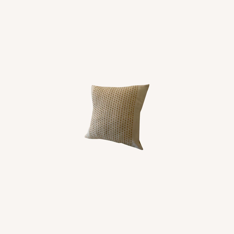 "West Elm Dot Linen Pillow Cover 18""x18"" - image-0"