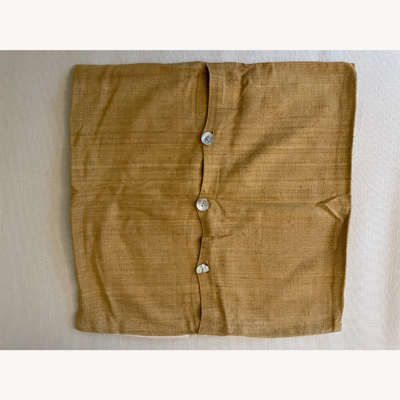 "West Elm Dot Linen Pillow Cover 18""x18"" - image-3"