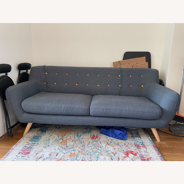 Blue Two-Three Seater Sofa - image-1