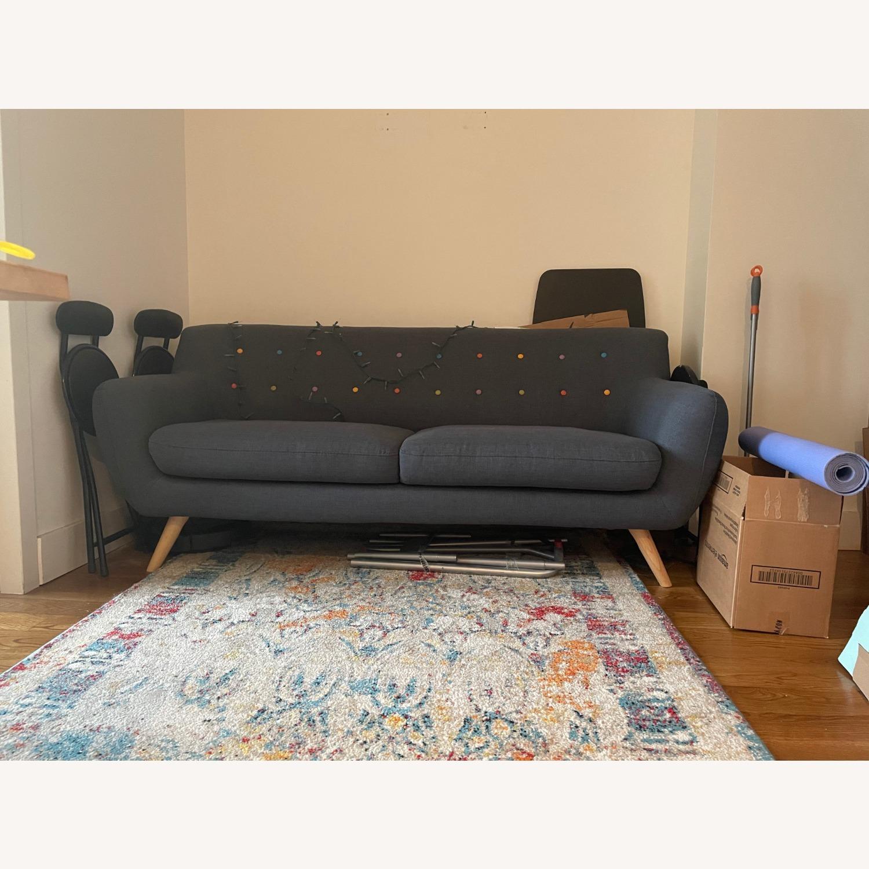 Blue Two-Three Seater Sofa - image-3