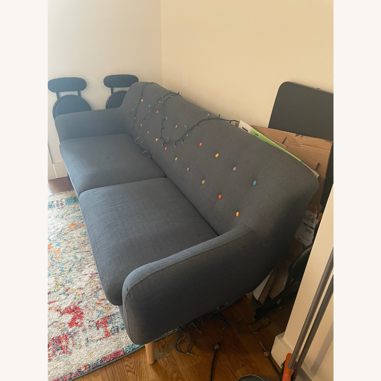 Blue Two-Three Seater Sofa - image-2