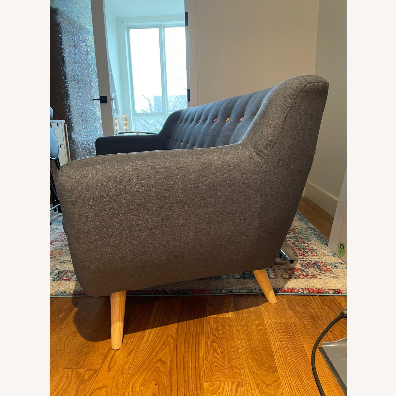 Blue Two-Three Seater Sofa - image-6