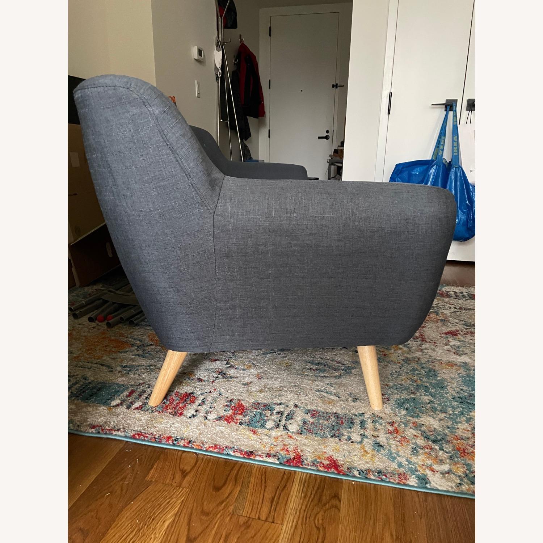 Blue Two-Three Seater Sofa - image-7