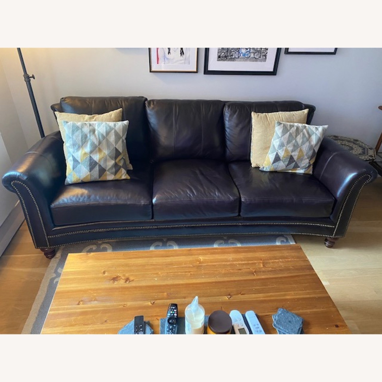 Bradington Young Leather Sofa - image-1