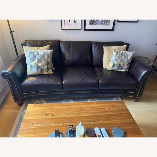 Used Bradington Young Leather Sofa for sale on AptDeco