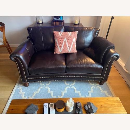 Used Bradington Young Leather Loveseat for sale on AptDeco