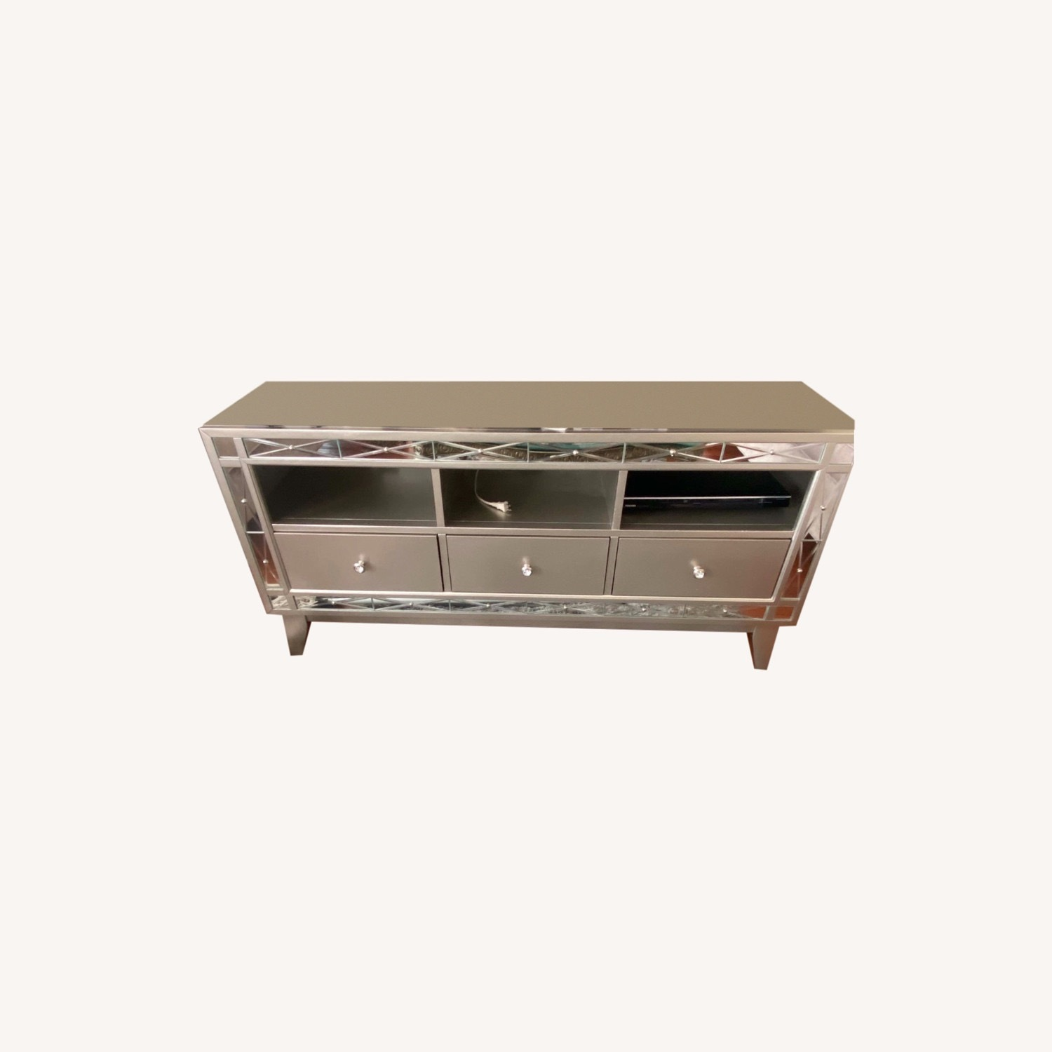 Bob's Discount Mirrored Media Storage/TV Stand - image-0