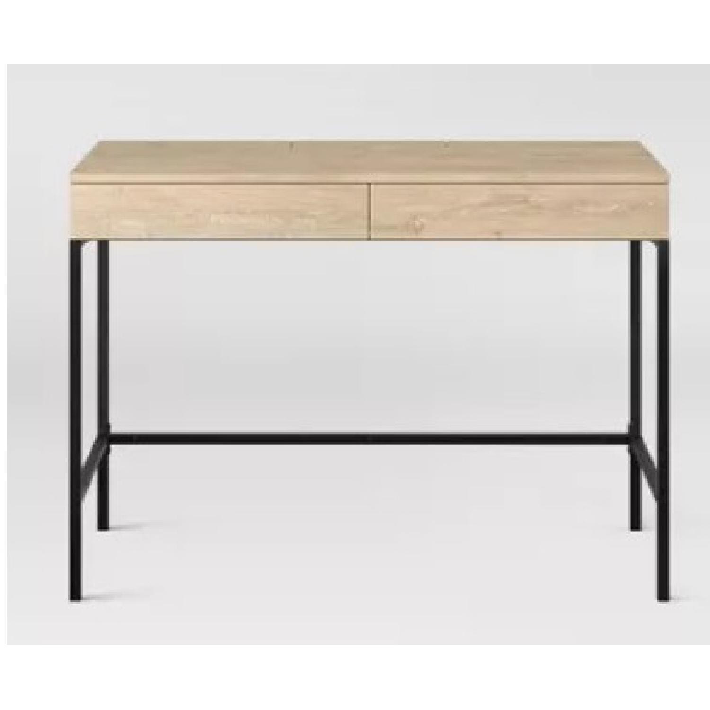 Target Loring Wood Writing Desk Vintage Oak - image-8