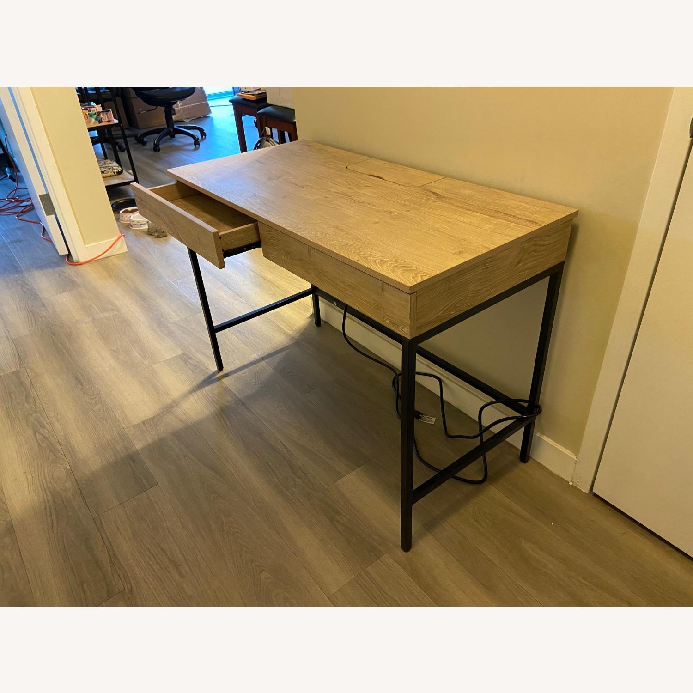 Target Loring Wood Writing Desk Vintage Oak - image-2