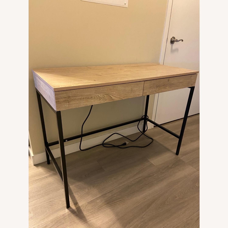 Target Loring Wood Writing Desk Vintage Oak - image-1