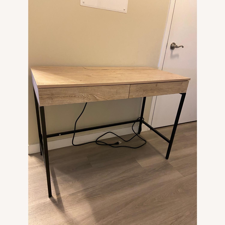 Target Loring Wood Writing Desk Vintage Oak - image-7