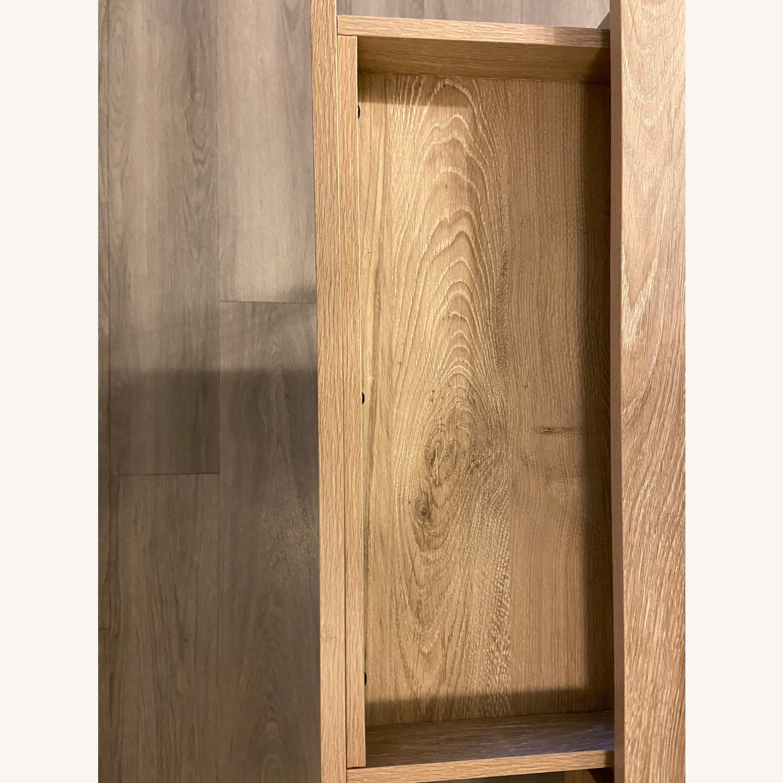 Target Loring Wood Writing Desk Vintage Oak - image-5