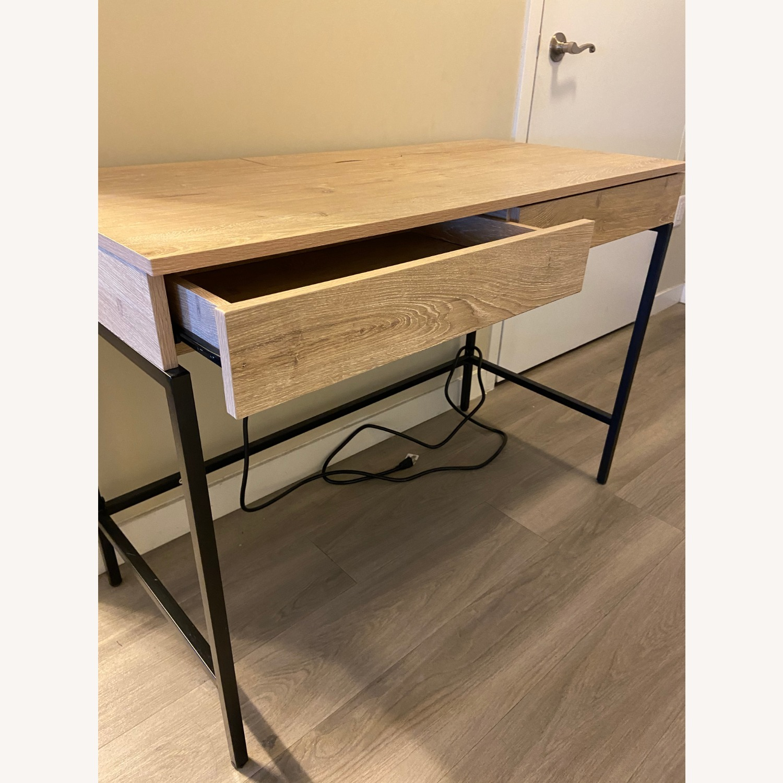 Target Loring Wood Writing Desk Vintage Oak - image-6