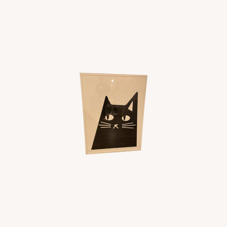 Black and White Cat Print - image-0