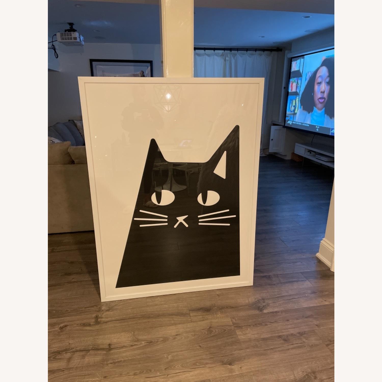 Black and White Cat Print - image-1
