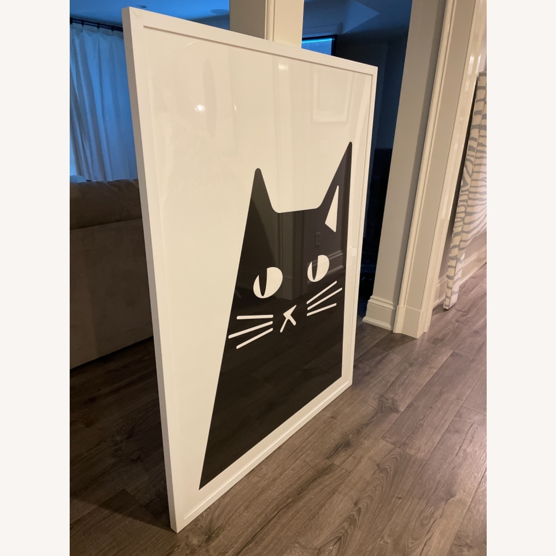 Black and White Cat Print - image-2