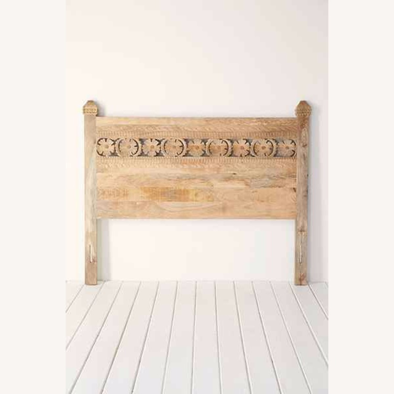 Urban Outfitters Pranati Carved Mango Headboard - image-2