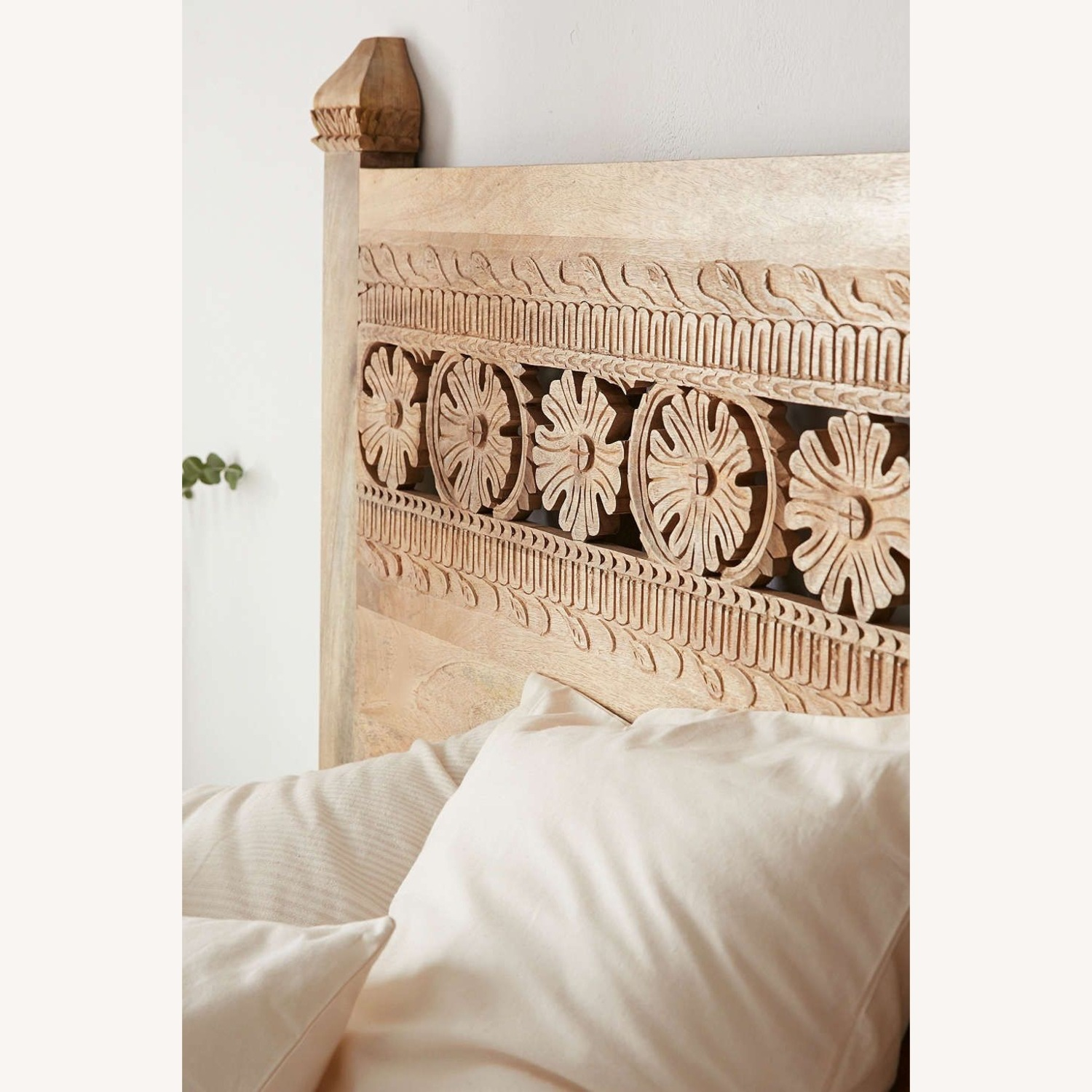 Urban Outfitters Pranati Carved Mango Headboard - image-1