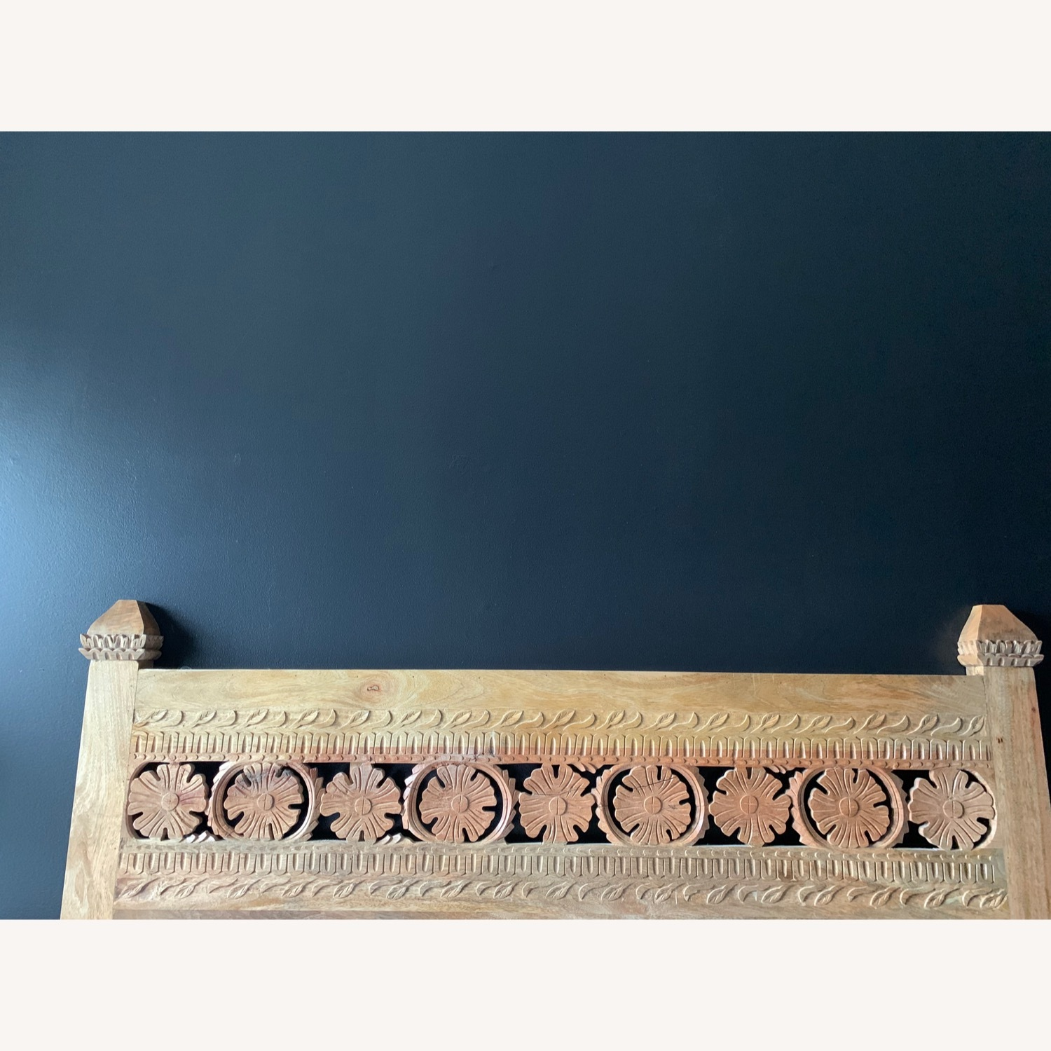 Urban Outfitters Pranati Carved Mango Headboard - image-4