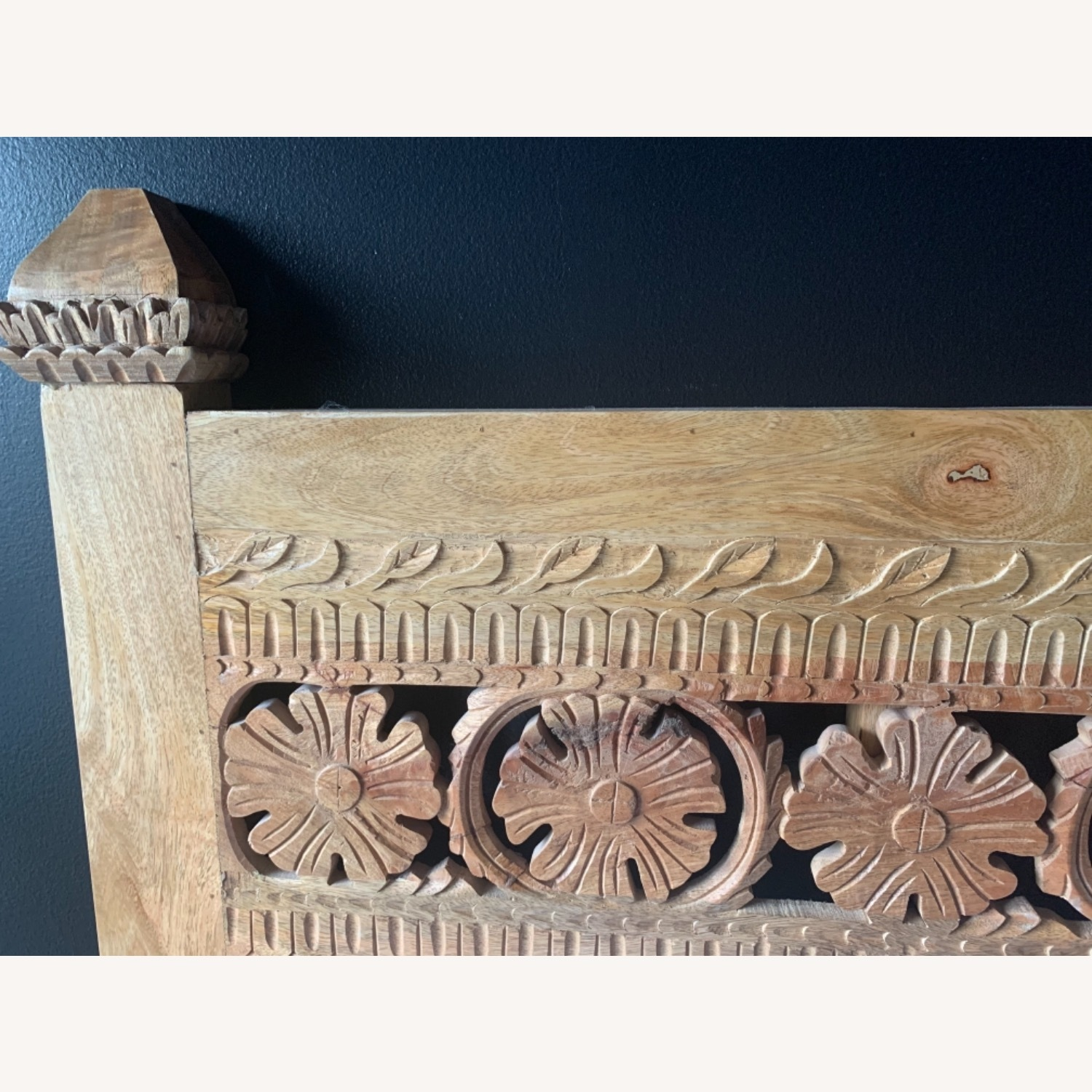 Urban Outfitters Pranati Carved Mango Headboard - image-11
