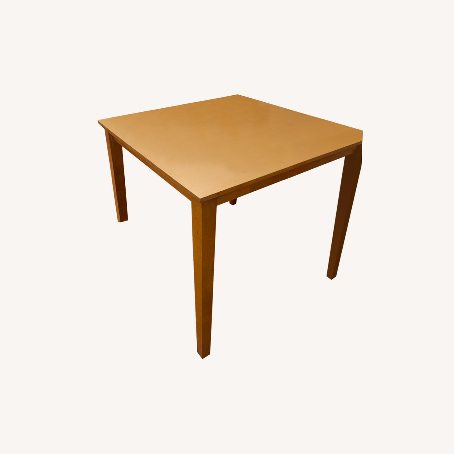 Wood Square Table - image-0